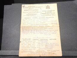 VATICAN - Demande D 'information Du Vatican Pour Prisonnier De Guerre Allemand à Rennes En 1946 - L 18854 - Lettres & Documents