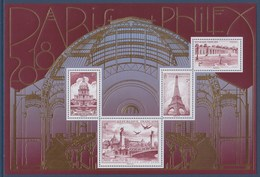 = Bloc F5222 Paris Philex 2018 Tour Eiffel 5223 Pont Alexandre III 5225 Grand Trianon Versailles 5224 Les Invalides 5222 - Blocks & Kleinbögen