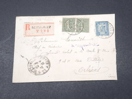 FRANCE - Enveloppe En Recommandé Du Secteur Postal  22 ( Trèves ) Pour Orléans En 1924 - L 18856 - Marcophilie (Lettres)