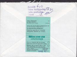 Norway PORT PAYÉ Registered Label OSLO Cover Brief HOLTE Denmark Purple AFH. SØLL. Line Cds. Toll Duane Zoll Label - Norwegen