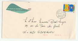 2001 LUXEMBOURG COVER  Illus ADVERT De GAARD UM TITZEBIERG   European Language Year Stamps - Luxembourg