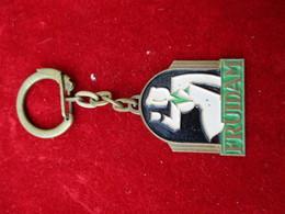 Porte-clés Publicitaire/Boisson/FRUIDAM//Bronze Embouti Cloisonné Peint/Vers 1960  POC282 - Porte-clefs