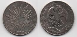 + MEXIQUE  + 8 REALES 1877  + - Mexico