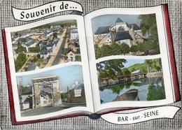 CPSM Dentelée - BAR-sur-SEINE (10) - Carte Multi-Vues Au Livre Ouvert - à L'album-Photos Ouvert De 1964 - Bar-sur-Seine