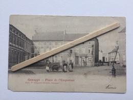 GENAPPE»PLACE DE L'EMPEREUR «Panorama,animée ,marchant Ambulant (1903)Édit Vve Delpierre -Decorte ,Genappe. - Genappe