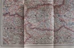 """CARTE """"ROYAUME DE ROUMANIE ET LES ETATS LIMITROPHES"""" ;HONGRIE,TRANSYLVANIE, RUSSIE,BULGARIE,SERBIE, 1914-1918 - Cartes Géographiques"""