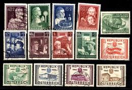 Autriche Belle Petite  Collection D'oblitérés 1949/1955. Bonnes Valeurs. B/TB. A Saisir! - 1945-.... 2nd Republic