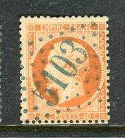 Superbe N° 23 Cachet GC 5103 ( Varna ) - Signé Brun - Frappe Luxe - 1862 Napoléon III.