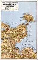!  Alte Ansichtskarte Landkarte Lübecker Bucht, Fehmarn, Map - Cartes Géographiques