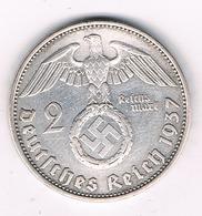2 MARK 1937 A  DUITSLAND /3263G/ - [ 4] 1933-1945 : Troisième Reich