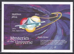 Maldives, 1992, Mysteries Of The Universe, UFO, Time, Space Travel, MNH** - Maldivas (1965-...)