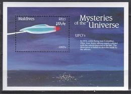 Maldives, 1992, Mysteries Of The Universe, UFO, MNH** - Maldives (1965-...)