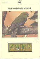 WWF   Norfolk Island  Michel #  431 - 24  ***  Mit Kapitel In Deutsche Sprache - Ongebruikt