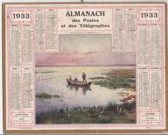 Almanach Des Postes Et Telegraphes 1933 Pointe De Crane A Andernos Illustré Complet Charente Inferieure - Grossformat : 1921-40