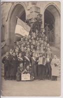 CARTE PHOTO D'HAGUENAU (67) : SOUVENIRS DE LA CLASSE 1940 - VIVE LA CLASSE 1940 - LES CONSCRITS - 2 SCANS - - Haguenau