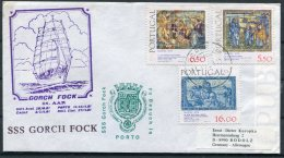Potugal Gorch Fock Sailing Ship Cover. 1979 Christmas Porto - 1910-... République