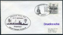 1981 Germany Bremen S 71 GEPARD Schnellboot Stapellauf Ship Cover - [7] Federal Republic