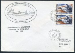 1983 TAAF Dumont D'Urville T.A.A.F. Antarctic LADY FRANKLIN Ship Cover Canada - French Southern And Antarctic Territories (TAAF)