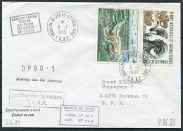 1989 TAAF Martin De Vivies St Paul AMS. T.A.A.F. Antarctic Ship Cover. Lowland Lancer - French Southern And Antarctic Territories (TAAF)