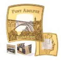 """Luxembourg 2017 : 2,5€ En Argent Et Or Nordique """"Pont Adolphe"""" (qualité BE) - Disponible En France - Luxembourg"""
