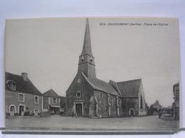 72 - COURCEMONT - PLACE DE L'EGLISE - ANIMEE - Other Municipalities