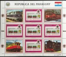 Paraguay 1987 Trains - Paraguay