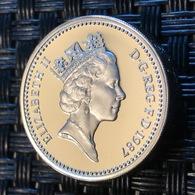 Great Britain One Pound 1987 United Kingdom Silver - 1971-…: Dezimalwährungen