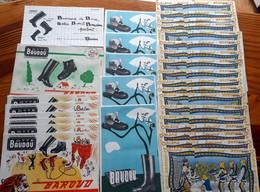 31 Buvards Années 50 (5 Modèles Différents) THEME - CHAUSSURES - BOTTES BAUDOU    -non Utilisés - Shoes