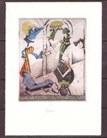 Ex Libris  Josef Werner  C3 Col   Mm130x95   Solstizio D'estate - Ex Libris