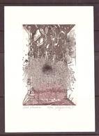 Karol  Ondreicka Bratislava (1949-2002)  C3,C5 1995  Mm150x90  Theatre - Ex Libris
