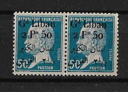 Libano 1924-25 Pareja De Sellos Nuevos Sin Charnela Perfecto Estado Sellos De Francia De 1923-24 Con Sobrecarga - Líbano