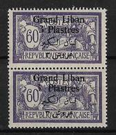 Libano 1924-25 Pareja De Sellos Nuevos Sin Charnela Perfecto Estado Sellos De Francia De 1923-24 Con SobrecargaLibano 19 - Líbano