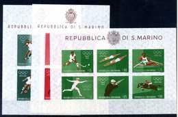 1960 SAN MARINO SET 3BF MNH ** - Blocchi & Foglietti