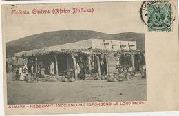 Asmara Negozianti Indigeni Che Espongono Le Loro Merci  P. Used - Erythrée