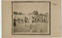 Real Photo Tblou ? Enterrement D Un Militaire Tirailleurs Colons - Soudan