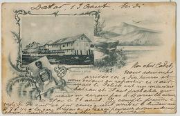 Factorerie à Glass Libreville  Precurseur Voyagé 1898 Cachet Maritime - Gabon