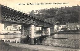 Huy - La Meuse Et Le Pont Du Chemin De Fer Hesbaye-Condroz (animée, Pêcheurs,G. Hermans 1908) - Hoei