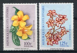 1984 - COTE D'IVOIRE-  VERY RARE FLOWERS - 2  VAL.- M.N.H. - LUXE !! - Costa De Marfil (1960-...)