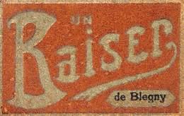 """Un Baiser De Blegny (carte """"velours"""", 1909) - Blegny"""