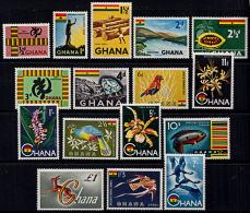 C0330 GHANA 1959 - 61, SG 213-27  Definitives,  Mounted Mint - Ghana (1957-...)