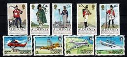 Alderney - Full Year 1985 Yv 18/22**, 23/27**,  Cote YV. € 47,00 - Alderney