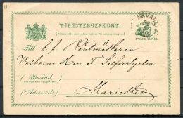 1888 Sweden Tjenstebrefkort Stationery Postcard Axvall - Sweden