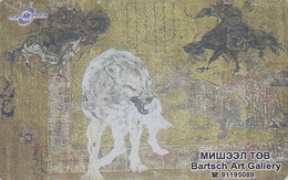 Télécarte Prépayée Mongolie - ANIMAL - LOUP - WOLF Mongolia Phonecard - LUPO - 86 - Mongolië