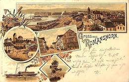 Gruss Aus Romanshorn (Litho Multi Views, Carl Künzli 1898) - TG Thurgovia