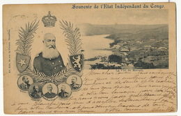 Souvenir Etat Independant Du Congo Mr Fuchs  Baron Dhanis , Evan Eetvelde , Colonel Wahis Thys Nels 1900 Roi Matadi - Congo - Kinshasa (ex Zaire)