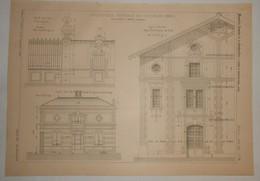 Plan D'une Briquerie Centrale De Vaugirard. Paris.. 1890 - Public Works