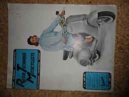 Revue Technique Motocycliste Mars 1956, Motobécane Z23c, BMW R50 & R69, Les Mobylettes - Alte Papiere