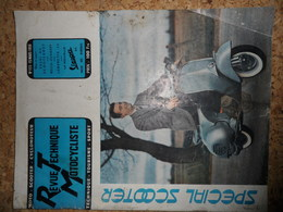 Revue Technique Motocycliste Mars 1956, Scooterrot, Bella Zundap, Lambretta 56 - Alte Papiere