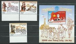Vietnam Viet Nam. 2005 Thang Long / Hanoi / Elephant / Bridge / Railway / Music.S/S And Stamps. MNH - Vietnam