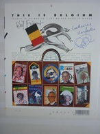 Dirk Frimout (ruimtevaart) En Catherine Verfaillie (stamcellenonderzoek): Gesigneerd - This Is Belgium - Célébrités